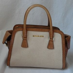 Michael Kors Harper Two Tone Canvas Bag